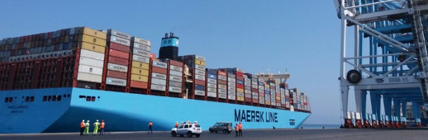 Maersk giant to Denmark for the first time