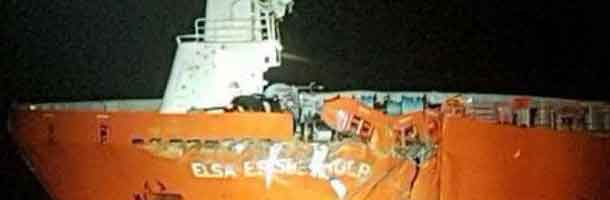 Tanker crashes into platform in the North Sea