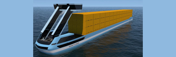 Electric container barges replace trucks