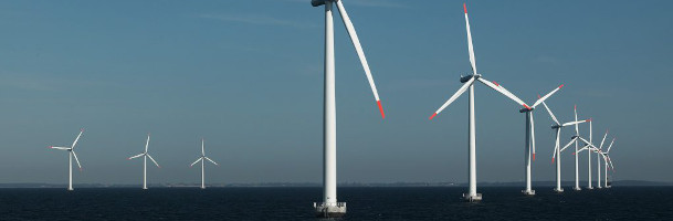 Large areas reserved for offshore wind