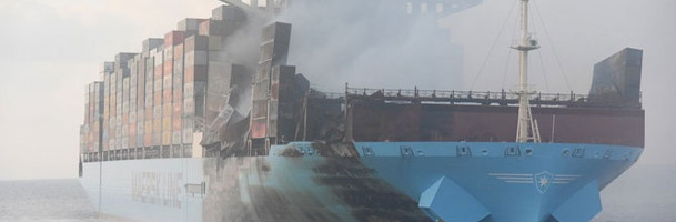 Maersk plans to repair burned ship