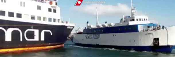 Collided ferries both have Danish past
