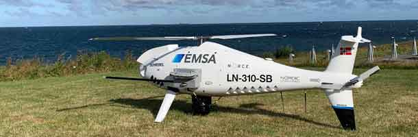 Drones monitor emissions in Danish waters