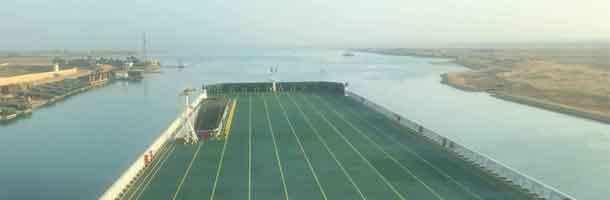 Flandria Seaways passes through Suez Canal